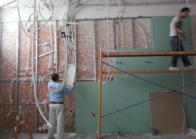 8 colocación de pladur en paredes